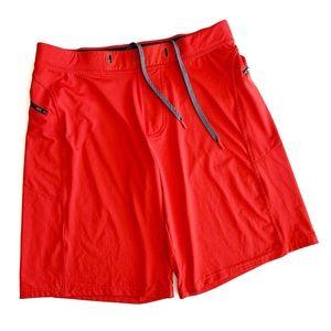 Hylete   Red Men's CrossFit Lifting Shorts Large